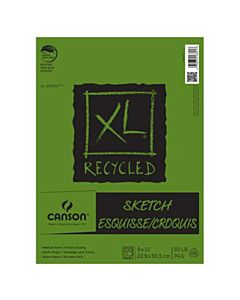 Canson XL Recycled Sketch Pad (100 Sheets - Spiral Bound) 9x12""