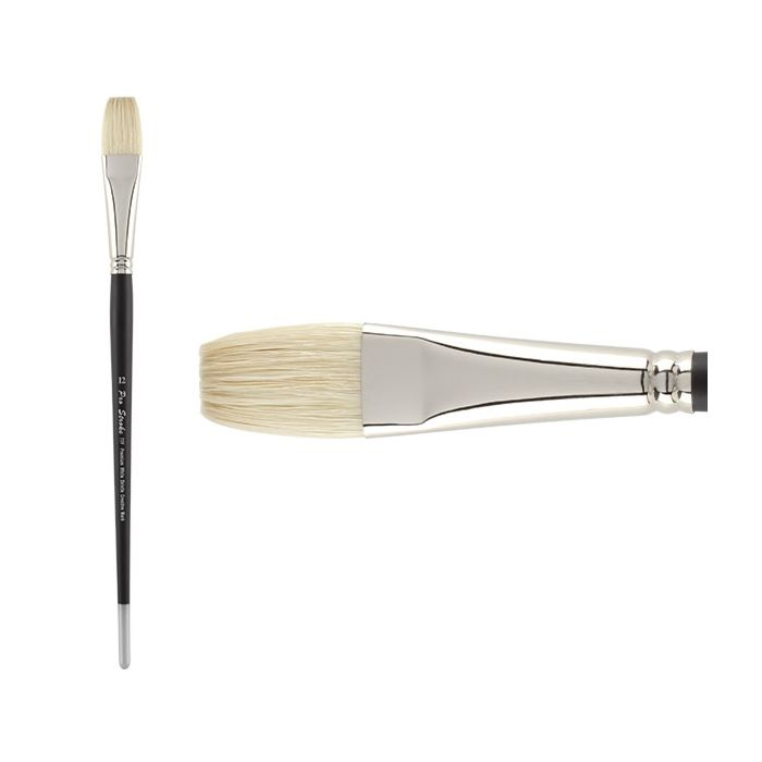 Brushes for Acrylic and Oil Series 5200 Princeton Ashley Filbert Size 2 Interlocked Chungking Bristle