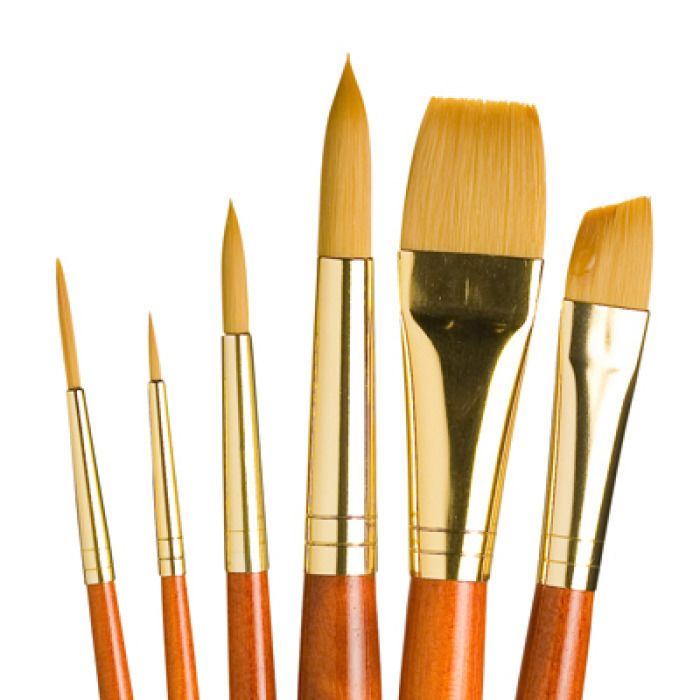 Princeton Series 5200 Ashely Better Interlocked Bristle Long Handle Brushes 6 bright PACK OF 3