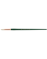 Silver Brush Grand Prix White Hog Bristle - LH - Round - Size 6