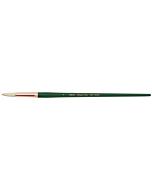 Silver Brush Grand Prix White Hog Bristle - LH - Round - Size 8