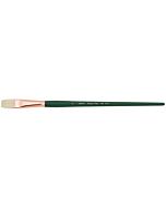 Silver Brush Grand Prix White Hog Bristle - LH - Flat - Size 10