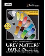 "Grey Matters 50-Sheet Paper Palette Pad 12x16"""