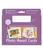 "Strathmore Photomount Card/Envelopes Decorative Embossed 5x6.875"" 10 Pack - White"