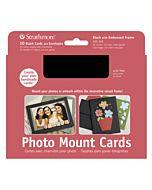 "Strathmore Photomount Card/Envelopes Black 10 Pack - 5x6.875"""