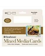 Strathmore Mix Media Card 10 Pack - 5x6.8