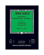 """Arches Natural White Watercolor Pad 10x14"""" 140lb Cold Press"""