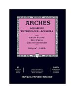 "Arches Natural White Watercolor Pad 10x14"" 140lb Hot Press"