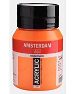 Amsterdam Acrylic Color - 500ml - Azo Orange
