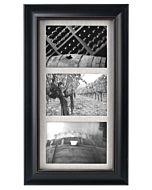 Malden Designs - Barnside Black Wood - 3 Openings, 5x7
