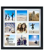 Malden Designs - Smart Collage 9 Photo Frame 4x4 openings