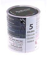 PanPastel Soft Pastels - Set of 5 - Extra Dark Shadows