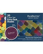 PanPastel Soft Pastels - Set of 20 - Extra Dark Shades