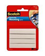 Scotch Removable Mounting Putty 2oz White