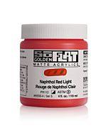 Golden SoFlat Matte Acrylic - 4oz - Napthol Red Light