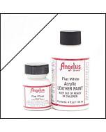 Angelus Acrylic Leather Paint - 4oz - Flat White