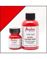 Angelus Acrylic Leather Paint - 4oz - Fire Red Paint