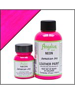 Angelus Acrylic Leather Paint - 1oz - Neon Jamaican Joy Paint