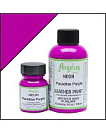 Angelus Acrylic Leather Paint - 1oz - Neon Paradise Purple