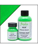 Angelus Acrylic Leather Paint - 1oz - Neon Amazon Green Paint