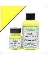 Angelus Acrylic Leather Paint - 1oz - Neon Tropic Sun Yellow