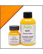 Angelus Acrylic Leather Paint - 1oz - Neon Sunset Yellow
