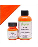 Angelus Acrylic Leather Paint - 1oz - Neon Lava Orange Paint