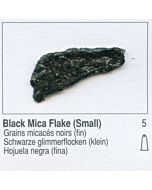 Golden Heavy Body Acrylic 8oz Jar - Black Mica Flake