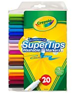 Crayola Super Tips Washable Markers 20-Count