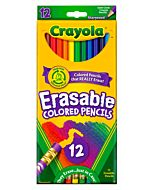 Crayola Erasable Colored Pencils 12-Pack Assorted Colors Sharpened