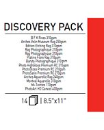Canson Infinity Discovery Pak 8.5x11 - 12 Sheets
