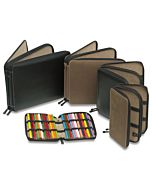 Global Art Leather Pencil Case - Black - For 48 Pencils