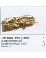 Golden Heavy Body Acrylic 8oz Jar - Gold Mica Flake Small