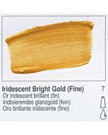 Golden Heavy Body Acrylic 2oz Tube - Iridescent Bright Gold