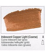 Golden Heavy Body Acrylic 8oz Jar - Iridescent Light Copper (Coarse)