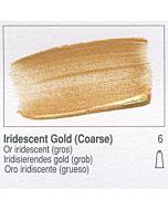 Golden Heavy Body Acrylic 8oz Jar - Iridescent Gold (Coarse)