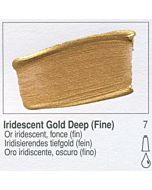 Golden Heavy Body Acrylic 8oz Jar - Iridescent Gold Deep