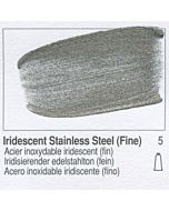 Golden Heavy Body Acrylic 8oz Jar - Iridescent Stainless Steel (Fine)