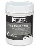 Liquitex White Opaque Flakes Gel - 8oz Jar