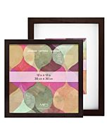 MCS Art Frames - Walnut Wood - 12x16 Frame - 8x12 Mat