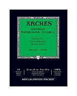 """Arches Natural White Watercolor Pad 9x12"""" 140lb Cold Press"""