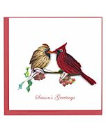 Quilling Card - Holiday Cardinals