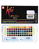 Koi Watercolor 60-Color Studio Set with 2 Water Brushes
