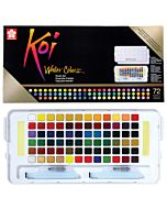 Koi Watercolor 72-Color Studio Set with 2 Water Brushes