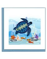 Quilling Card - BL1140 - Blue Sea Turtle