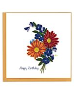 Quilling Card - Bday Wild Flowers