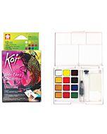 Koi Watercolor Metallic/Flourescent Set of 12 Colors