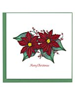 Quilling Card - Christmas Poinsettia