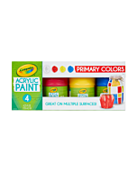 Crayola Multi Surface Acrylic Paint - 4 Color Primaries