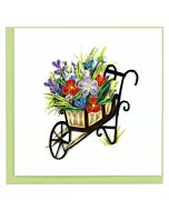 Quilling Card - Wheelbarrow Garden Greeting Card
